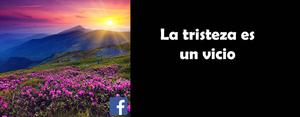 La tristeza es un vicio - Facebook
